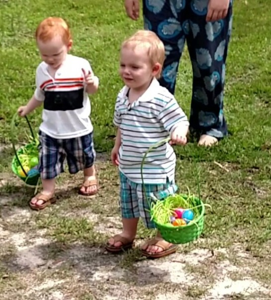 boys easter hunt